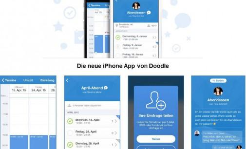 Doodle lanciert App mit Chat-Funktion