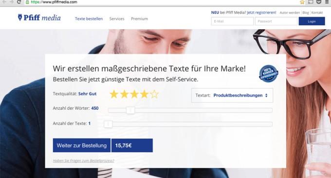 Startup im Content-Markt: Pfiff Media