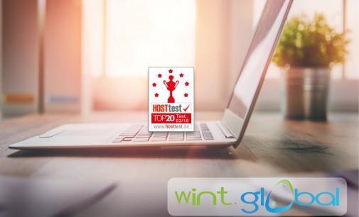 WINT.global gehört bei hosttest.de zu den Top20-Hosting-Anbieter