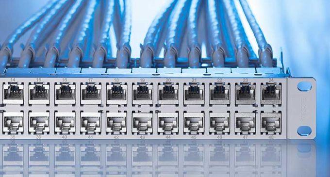 48 Port Panel für eine Höheneinheit im Rack