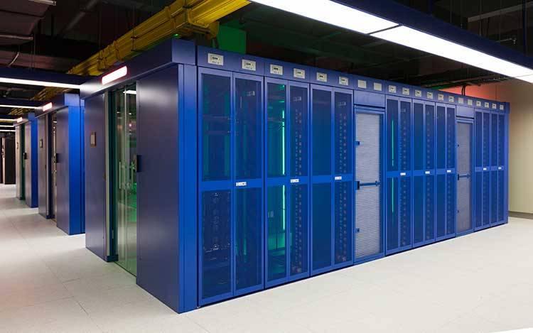 Rechenzentrum, worin typische Durack-Lösungen installiert sind.