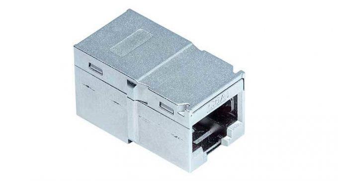 Kompakter RJ45 Koppler: Universell einsetzbar für 10 Gigabit Ethernet und mehr