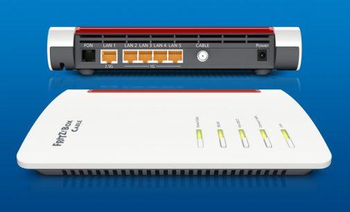 Premiere: FRITZ!Box Cable für DOCSIS 3.1 mit Wi-Fi 6 und 2,5-GBit/s-LAN