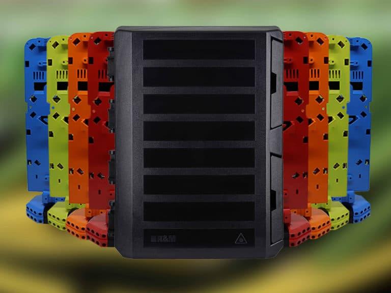 Mit R&Ms neuer Verteilerboxgeneration für den Aerial-Deployment-Markt lässt sich der Ausbau von FTTH-Netzen beschleunigen. Hier im Bild: die Box «RIO», entwickelt durch das R&M-Team in Südamerika.