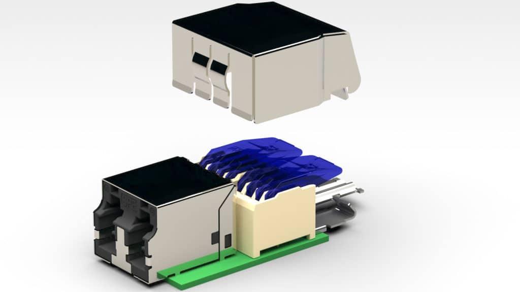Zum ersten vollständigen Verkabelungssystem für Single Pair Ethernet (SPE) von R&M gehören Stecksysteme nach dem LC-Cu-Standard und MSP-Standard, jeweils mit den entsprechenden Anschlussmodulen.